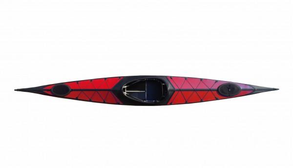 Nortik Argo Faltboot, Kajak, rot/schwarz